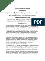RESOLUCIÓN 004100 DE 2004 limites de pesos y dimenciones