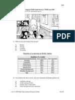 Pmr Trial 2009 Bi Q&A (Sabah)