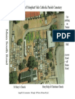 aerial view of cemetery