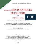 Gsell Stephane - Les Monuments Antiques de l Algerie - Tome I