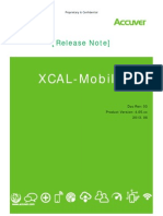 Xcal-mobile Release Note v4 5 Xx _rev3__130620