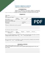 volunteer teacher service application