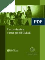 Kaplan y Garcia La Inclusion Como Posibilidad