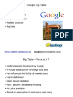 An introduction to Google Big Table