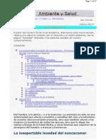 Vivat Academia - Junio 2002. Nº 36 - Ambiente y Salud - La insoportable levedad del nuncacomer. Primera Parte Santas y Brujas (Carlos Gamero Esparza)