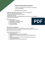 Key Result Areas and Key Performance Indicators