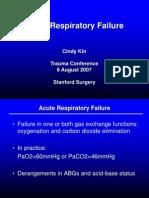 Acute Respiratory Failure
