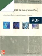 Joyanes 2010 . Fundamentos de Programacion Algoritmos Estructuras de Datos y Objetos