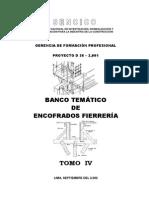 BANCO TEMÁTICO DE ENCOFRADOS FIERRERÍA - TOMO IV
