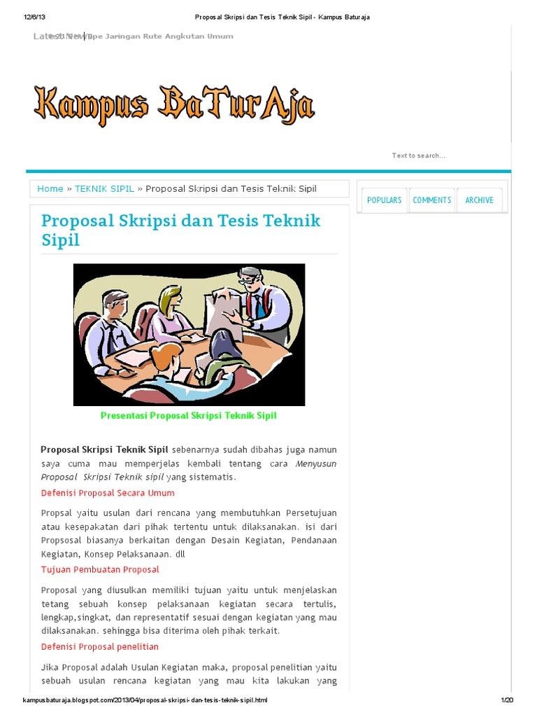 Free Download Skripsi Teknik Sipil Transportasi Supernalsy