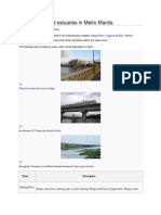 List of Rivers and Estuaries in Metro Manila