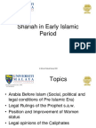 Sharia in the Early Period