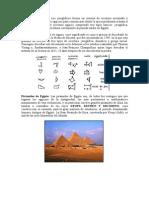 Escritura Jeroglífica y piramides de egipto