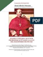 Alfredo Ottaviani, Iglesia y Estado, Algunos problemas actuales a la luz del Magisterio de Pío XII