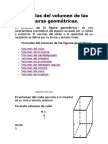 Fórmulas del volumen de las figuras geométricas