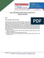 Soal Open Ended Biologi OSN Pertamina 2011