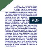 Article on Why NathuRam Godse Killed Gandhiji....!!!!