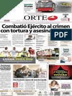 Periódico Norte de Ciudad Juarez 8 de Diciembre de 2013