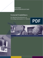 General Guidelines for Medical Practitioners on Providing Information to Patients