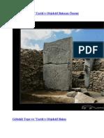 2010-07-31 Göbekli Tepe ve 'Tarih'e Objektif Bakışın Önemi