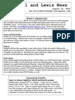Newsletter 8-24-09