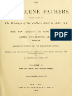 Hippolytus Cyprian Caius Novatian Appendix (Ante-Nicene Fathers 5)