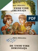 De unde vine dimineaţa de Mihai Negulescu