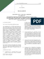 Regolamento CE 142-11 - Attuazione Del Reg. 1069-09