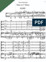 Bruckner - Mass No. 3 in F Minor - Vocal Score & Piano