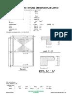 Struktur Pelat Lantai Untuk Jemuran