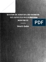 Detection coil design for a high Information rate Earths field nuclear precession magnetometer