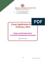 February 2014 Exam Form