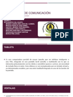 Dispositivos de Comunicacion(Tablet)