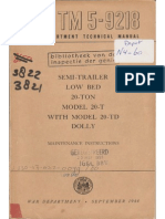Tm 5-9218 SEMI-TRLR LOW BED 20T, DOLLY 20TD, SEPT. 1944