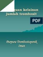 Gangguan Kelainan Jumlah Trombosit