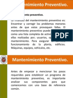mantenimiento preventivo