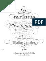 Mateo Carcassi - Op. 26 Seis Caprichos