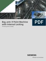 Siemens Point Machine Bsg 9 with Internal Locking
