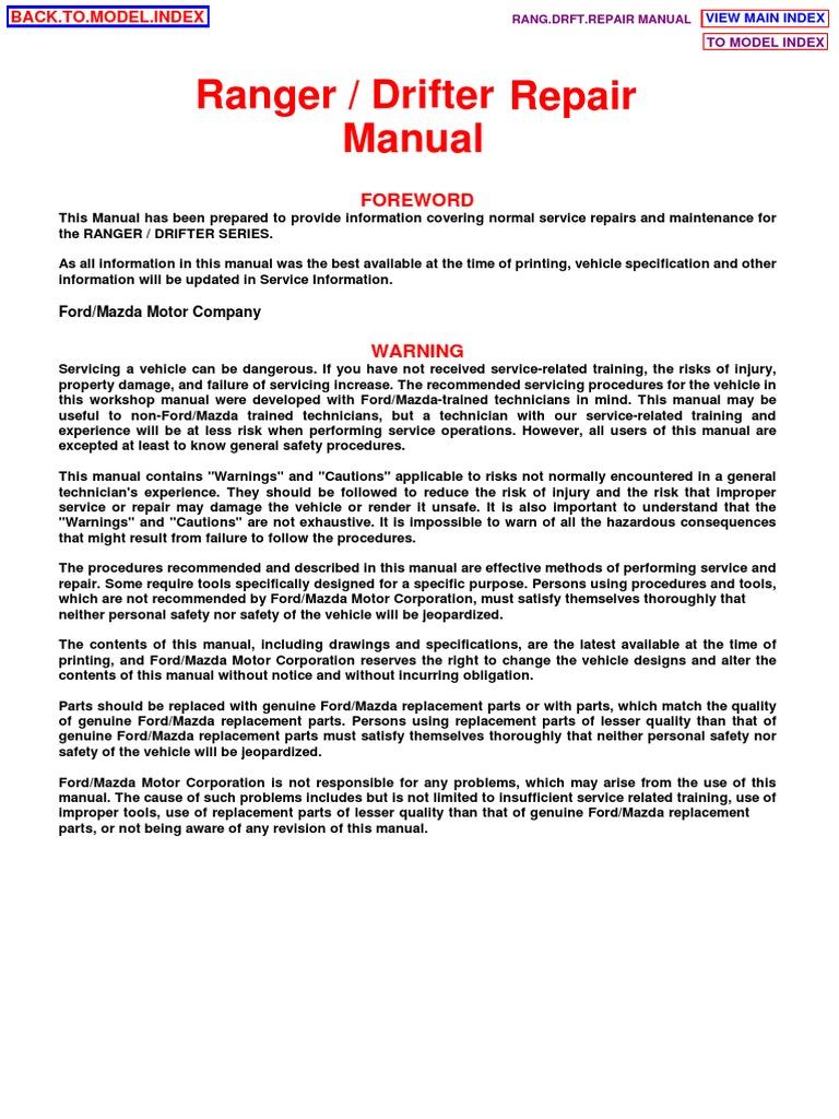 Mazda wl engine manual array ranger drifter repair manual f161 10 99a throttle cylinder engine rh scribd fandeluxe Images