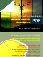 Vulnerability & Non Discrimination