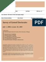 Survey2001 Doctoral