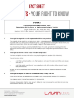 Legal Costs – Your Right To Know (Form 2)