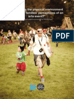 How does the physical environment impact on families' perceptions of an arts event?