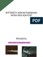 Wettability (Kemampubasahan) [Compatibility Mode]