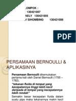 Persamaan Bernoulli USU Persamaan Bernoulli USU Persamaan Bernoulli USU