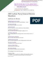 2001 Labour Party Manifesto