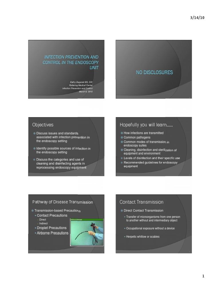 Endoscopy Unit: Infection Prevention Control Endoscopy Unit