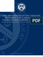 Treasury Department Financial Regulatory Reform Blueprint (2008)