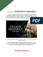 O LEGADO DE NELSON MANDELA PARA O NOSSO FUTURO.