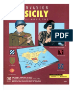"""Invasion Sicily"" GMT games, règles en français"